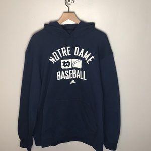 Mens Adidas Notre Dame Baseball Hoodie